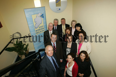 Pictured with staff of the East Biorder Region office at Monaghan Court Newry are Delegates from Romania who visited the offices on THursday last. 07W27N12