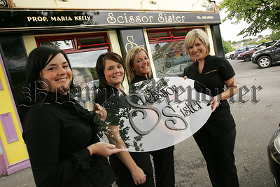 Staff at Scissor Sister Camlough, Maria Kelly, Melissa McGuinness, Elaine Kelly and Cara Quinn. 07W27N16