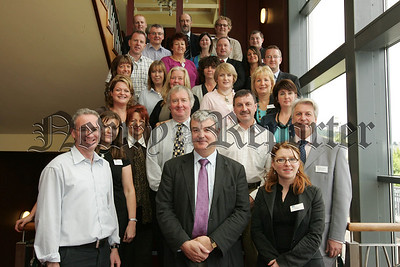 Pictured are staff from Upper Bann Institute, Armagh College and Newry and Kilkeel Institute at a Cultural Diversity Training Residential at the Four Seasons Hotel Carlingford on Wednesday last. The Thre Colleges will soon be almalgamated to become the Southern Regional College on the 1st August. 07W27N4