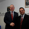 SDLP Leader Mark Durken congratulats Dominic Bradley on the opening of his new offices in Newry, 07W28N61