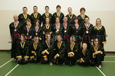 Pictured are the Victorious Northern Ireland Tae Kwon-Do team who took 13 medals at the recent World Championships held in Birmingham.