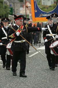Member of the Commons Hall Loyal Orange Order pictured at the 12th parade in Newry City. 07W29N9