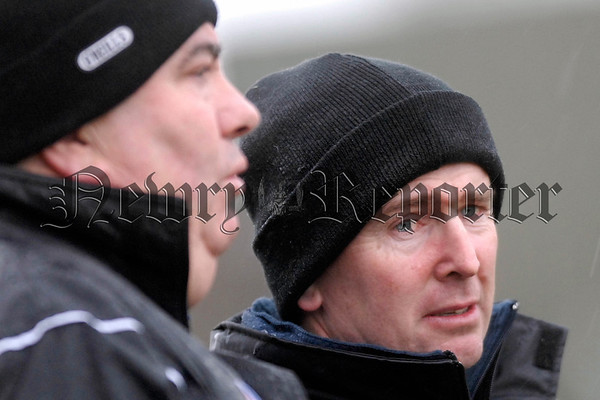 Armagh Manager Joe Kernan with John Rafferty. 07W02N255