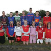 Coach Sinead Fleming is pictured with participants of the Fr Cullen Park Summer Soccer Coaching schemes held last week.