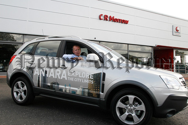 Mr Ian Matchett (sales manager cr morrow)  is pictured at the wheel of the New ANTARA Explore which was launched last Saturday at CR Morrow Bessbrook. 07W31N63