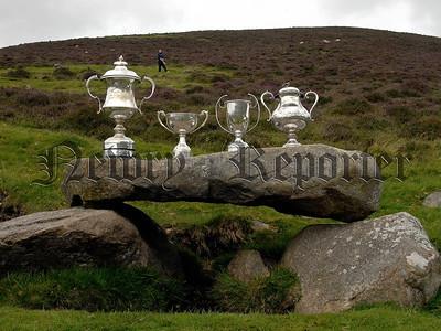 The Trophys displayed at Poc Fada on Saturday. 07W32S253