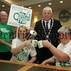 Mayor Michael Cole is pictured with Aiden Carroll, Maria McGleenon and Martha McGrath from Macmillan Cancer Support at the launch of the Worlds Biggest Coffee Morning in aid of the Charity which will  take place on the 28th September in various locations throughout Newry and Mourne. 07W32N15