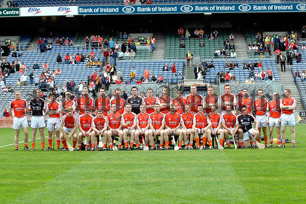 The Armagh Hurlers who played Roscommon in the Nicky Rackard Cup Final at Croke Park on Saturday. Photo Paul Byrne 07W33N251