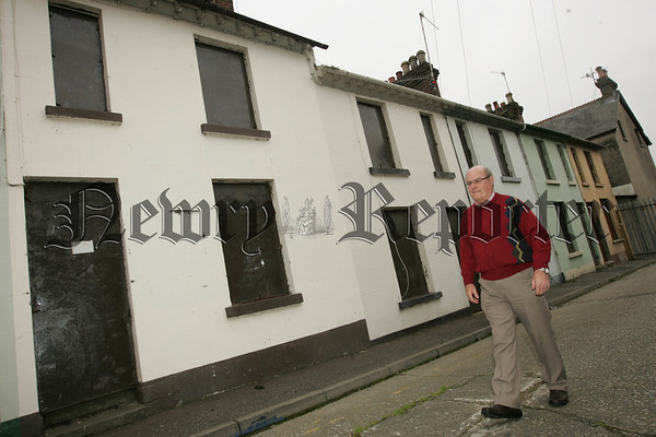 Pictured in Sinclair Street which was demolished as part of the Canal Street Regeneration Programme on Tuesday is Jim Dalzell who lived in No.4 Sinclair for over 23 years. Picture Peter Clarke. 07W33N31