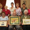 Pictured at Woodlawn Flowers Bessbrook are the Bessbrook Art Group, Helen McParland, Patricia Maguinness, Charmian Mehaffey, Nora Mathers, Bernard Powell, Rae Dodds, Rita Evans, Alfie Forbes and Peggy McGeeney who willl have an Art exhibition at the Ti Chualainn Centre in Mullaghbawn from the 1st to the 15th September as part of the 2nd Annual Harvest and Vintage Festival 2007. Picture Peter Clarke. 07W34N13