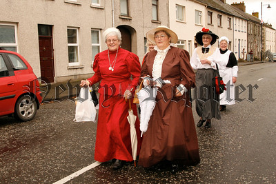 Markethill ladies in costumes to fit the occasion at Markethill Fair Day, 07W35N58