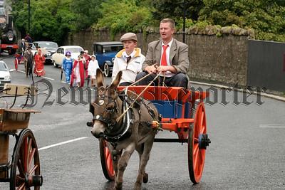 A donkey and cart at the parades, 07W35N61