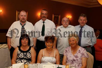 Gerry Lennon (president), Kieran Lennon (secretary), Frank Craven (trustee), Bro Ciaran Rowntree, Pauline Lennon, Mary Rose Craven ,Kay Maxwell (sisters of AOH),  07W35N52