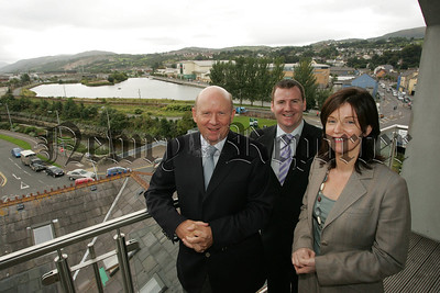 A View from the Top. Michael McKeown Managing Director, Tony McKeown Sales Director and Bronagh O'Reilly Assistant Managing Director announce a £2 Million expansion at Crash Services Newry which will create 25 new jobs in the Newry and Mourne area. 07W36N5
