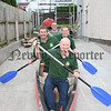 """"""" Barcroft Boys in Deep Water"""", Launching the Liffey Descent on Saturday 8th September are Raymond Thompson , Martin Lynch, Darren Thompson and Banjo Bannon, 07W37N52"""