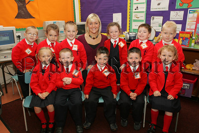 Pictured with their Teacher Mrs McKinney are the Primary 1 class at St Joseph's P.S. Newry. 07W37N21