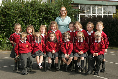 Pictured with their Teacher Miss Downey are the new Primary 1 pupils at St Joseph's Primary School Poyntzpass. 07W37N18