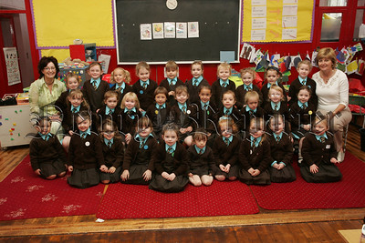 Pictured with their Teacher Mrs Keenan and Classroom Assistant Mrs McQuillan are the new Primary 1 pupils from St Clare's P.S. Newry. 07W37N24