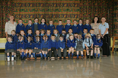 Pictured are the new Primary 1 class at St Mary's Primary School Mullaghbawn with their Teacher Mrs McGahon along with Classroom Assistants Mrs Gregory and Miss Murphy. 07W38N11