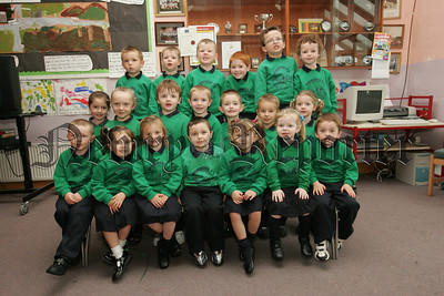 Pictured are the new reception and primary 1 pupils at Dromintee Primary School. 07W38N10