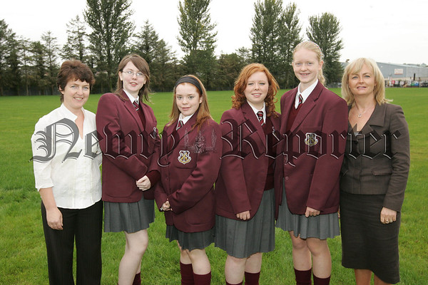 Year 12 Chemistry students Laura Connolly, Caitlin Malone, Sarah ann McKnight and Roisin Fearon who attended the Royal Society of Chemistry Summer Camp at University of Ulster Coleraine. The girls accompanied by Vice Principal and Head of Science, Mrs Una McNulty and their Chemistry teacher and Head of Sixth Form, Mrs Bridget McConville. 07W38N34