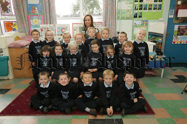 Pictured with their Teacher Miss McVeigh are the new Primary 1 class at St Mary's Primary School Barr. 07W38N41