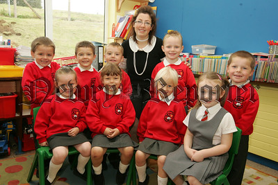Pictured with their teacher Miss Larissa Dillon are the new Primary 1 class at Bessbrook Primary School. 07W38N14