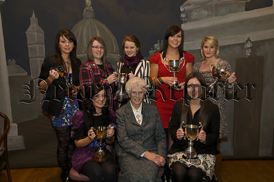 Our Lady's GS Prizegiving. Sr Perpetua with other award winners.09W52N751