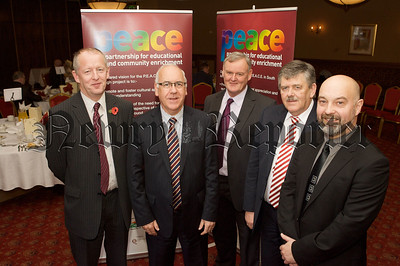 Mr Oliver Mooney, Brian McKinley, Garnet Mullan, Raymond Cassidy and Albert Maguire local Principals. 10W45N3