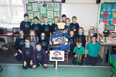 Primary 6 and 7 pupils at Kilbroney Integrated PS Rostrevor have made a scarecrow which will be on display at the Garden Show taking place at Antrim Castle Gardens from the 6th-8th May. R1617025