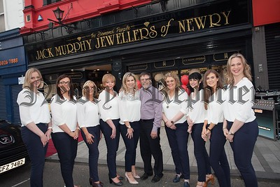 Staff from Jack Murphy Jewellers Hill Street Newry are pictured during their Diamonds and Daquaris evening held recently. R1617005
