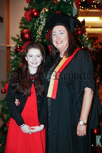 Briege White with her daughter Dearbhla, age 10, from Newry, Co. Down, who was conferred as a Member of Accounting Technicans Ireland at a ceremony at the Talbot Hotel in Dublin as well as receiving her Diploma for Accounting Technicians. Picture: Kenneth O'Halloran.