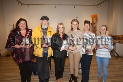 """Sarah Gilbert (Pictured Third from Right) officially launches her new book """"Hello at Last"""" at Newry Library with Susan Murphy, Mearns Pollock, Ann Troy, Mary Smyth and Donna Blevins. R1651016"""