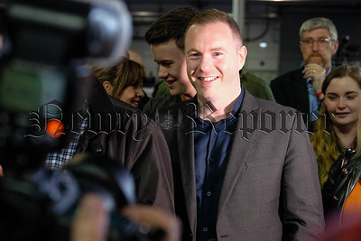 New South Down MP, Sinn Féin's Chris Hazzard after the announcement at the vote count. Photograph: Columba O'Hare