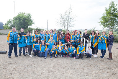 Pictured at Barkston Stables are the Saddle and Reins Special Olympics club who received sponsorship for new club jackets. RS1725001