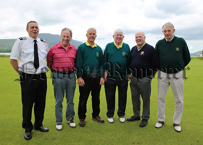 James Larkin, Greenore Coastguard, Christy Crawford. G.U.I. Frank McKay, Greenore President, Gene Duffy, Greenore Captain, Joe McNamara G.U.I. Leinster Secetary, Seamus McParland, Leinster Team Manager at the 2017 Greenore Golf Classic in Greenore Golf Club last weekend.