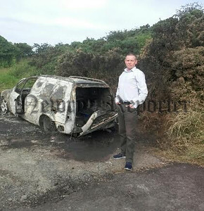 R1728109 - Mickey Larkin burnt van