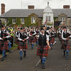 Lisa Gates pictured heading up Bessbrook Crimson Arrow Pipe Band at the Sham Fight parade at Scarva.