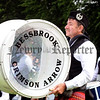 Bass drummer Kenny Paul (Bessbrook Crimson Arrow Pipe Band) striking out the beat at the All-Ireland Pipe Band Championships at Lurgan Park on Saturday 1st July.
