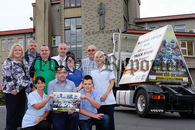 Getting ready for the 8th Mourne Truck and Van Run on Saturday 5 August and the Truck Show and Family Fun day in St Christophers Park, Newry on Sunday 6 August. This years proceeds are in aid of Southern Area Hospice Services and the Kevin Bell Repatriation Trust. Included front from left are Michelle McGarry, Southern Area Hospice; Stephen O'Hare and Daniel O'Hare, organisers. Back: Fiona Stephens, Southern Area Hospice; Kevin Heaney and Damian Ruddy, KBRT; Gary O'Hare, organiser; Orlagh Loftus, Southern Area Hospice; Dan O'Hare, organiser and Diane Jardine, Southern Area Hospice. Photograph: Columba O'Hare