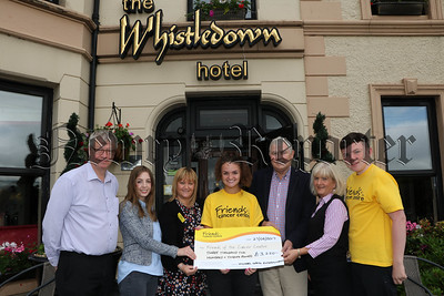 CHEQUE PRESENTED TO FRIENDS OF CANCER CARE