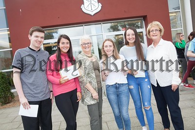 Oisin Mee, Seana MacArdle Eileen Fearon (Board of Govenors), Orlagh McKenna, Sarah Kilgallon and Teacher Mary McMahon. R1735011