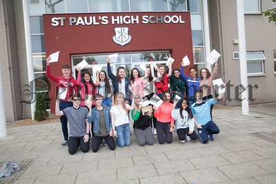 St Paul's HS Bessbrook pupils with their results. R1735009