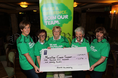 MARIE RAFFERTY COFFEE MORNING CHEQUE PRESENTATION