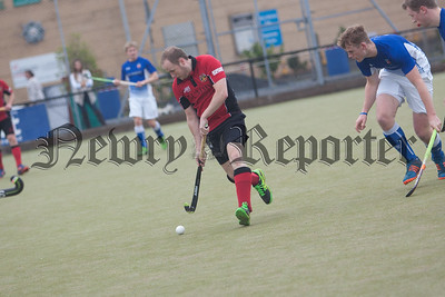 Newry's Jeremy Greer in action against Queens. RS1742010