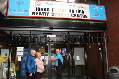 CLOSING THE DOORS OF NEWRY SPORTS CENTRE FOR THE LAST TIME.