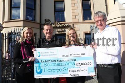 FERGAL FLAHERTY CONCERT RAISES £3,000 FOR SOUTHERN AREA HOSPICE