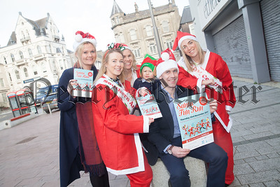 SANTA FUN RUN will be taking place this year on Thursday 23rd November in conjunction with the Newry and Mourne Down District Council Christmas Light switch on. Pictured here at the launch are Grainne and Denise from the Southern Area Hospice, Mary Meehan Newry Chamber of Commerce, Gemma and Moya Murphy, Jack Murphy Jewellers and Cathal Grant from CGDM, event sponsor. R1746002