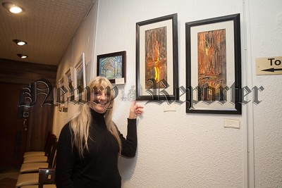 Newry Art's Society are holding an Autumn Art Exhibition in the Sean Hollywood Arts centre from the 2nd November to the 29th November. Pictured with some of her work if Majella Quinn. R1744001