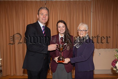 The Spirit of St. Paul's Cup for outstanding contribution to school life was awarded to Sarah Kilgallon.Pictured with Principal, Mr. Jarlath Burns,  Chairperson of Governors, Mrs. Eileen Fearon, Year Head, Mr. Bill Geoghegan and Guest Speaker, Dry Johnny Feenan. R1749014